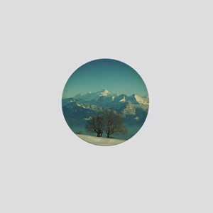 Mont Blanc in snowy landscape. Mini Button