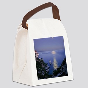 Night view over calanque of Sugit Canvas Lunch Bag