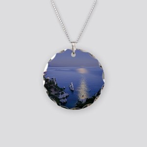 Night view over calanque of  Necklace Circle Charm