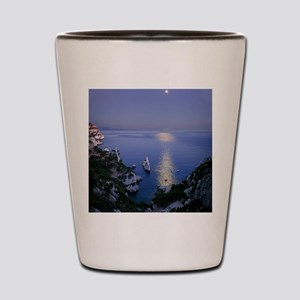 Night view over calanque of Sugiton nea Shot Glass