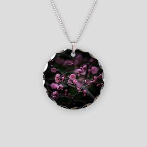Plum blossoms. Necklace Circle Charm