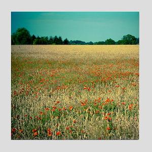 Poppy field. Tile Coaster