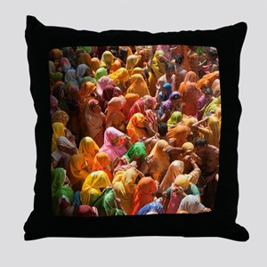 Mathura-Vrindavan - the essence of Ho Throw Pillow