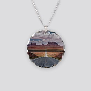 Monument Valley. Necklace Circle Charm