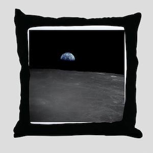Earth Rise Throw Pillow
