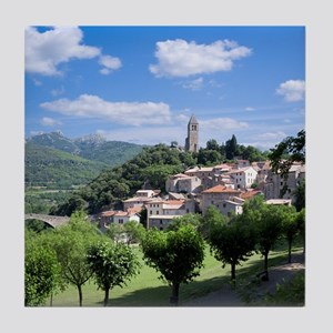 Olargue, Languedoc-Roussillon, France Tile Coaster