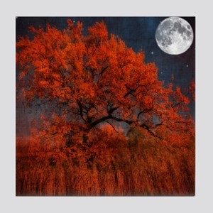 Moonlight tree. Tile Coaster