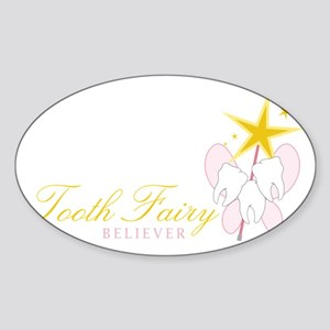 Tooth Fairy Believer Sticker (Oval)