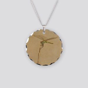 Resting on a beach dune plan Necklace Circle Charm