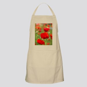Red poppies in cornfield, France Apron
