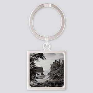 Ruby Beach, Olympic National Park, Square Keychain