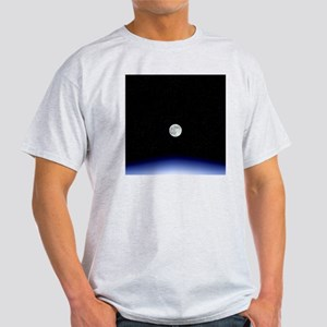 Moon rise over Earth Light T-Shirt
