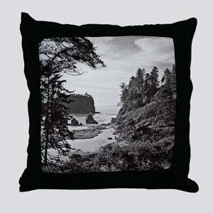 Ruby Beach, Olympic National Park, Wa Throw Pillow