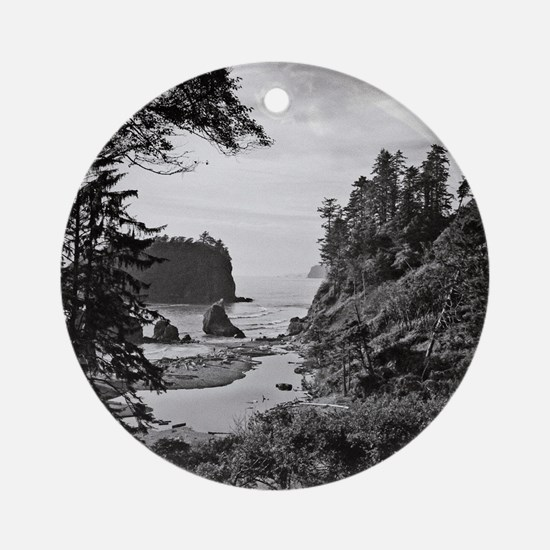 Ruby Beach, Olympic National Park,  Round Ornament