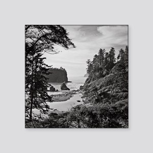 "Ruby Beach, Olympic Nationa Square Sticker 3"" x 3"""