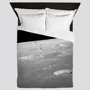 Moon Surface and Horizon Queen Duvet