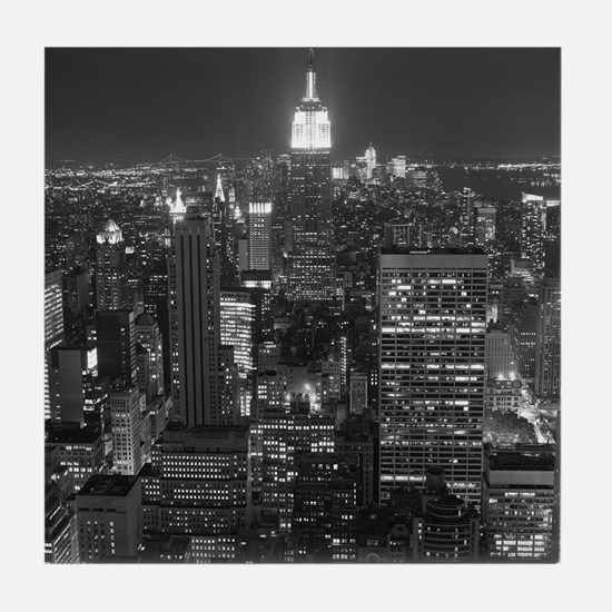 New York City at Night. Tile Coaster