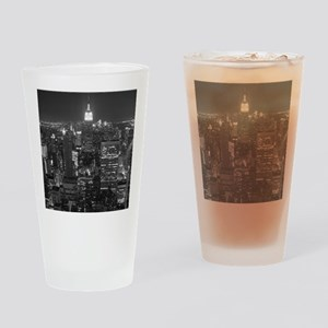 New York City at Night. Drinking Glass