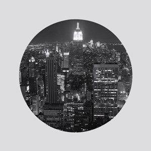"New York City at Night. 3.5"" Button"
