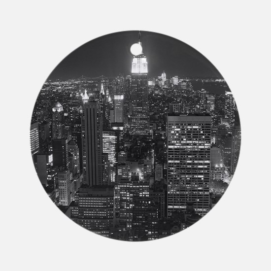 New York City at Night. Round Ornament