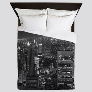 New York City at Night. Queen Duvet
