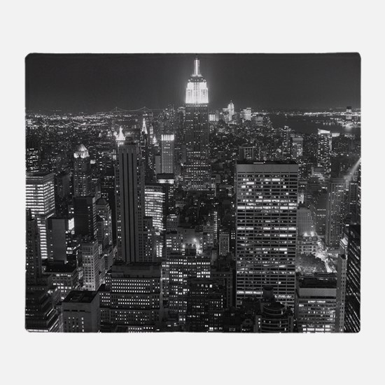 New York City at Night. Throw Blanket