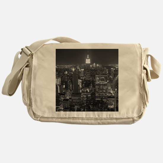 New York City at Night. Messenger Bag