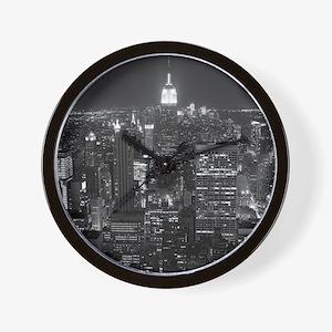 New York City at Night. Wall Clock