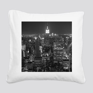 New York City at Night. Square Canvas Pillow