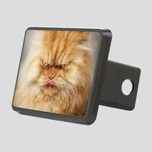 Persian cat looking angril Rectangular Hitch Cover