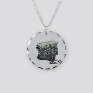 Pile of unwound cassette tap Necklace Circle Charm