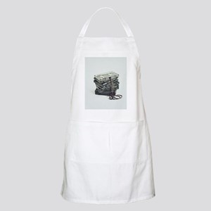Pile of unwound cassette tapes Apron