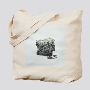 Pile of unwound cassette tapes Tote Bag