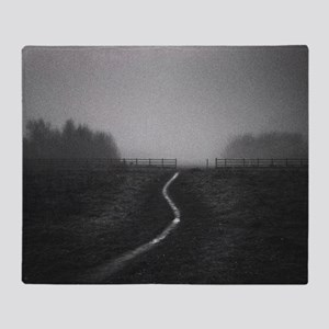 Silvery path leading through gap in  Throw Blanket