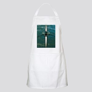 Scull man square river Seine reflections wat Apron