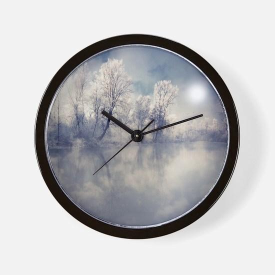 Reflection at lake. Wall Clock