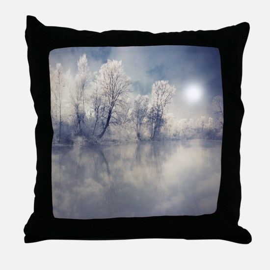 Reflection at lake. Throw Pillow