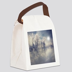 Reflection at lake. Canvas Lunch Bag