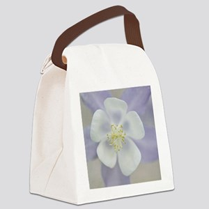 Rocky Mountain columbine flower. Canvas Lunch Bag