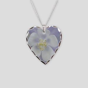 Rocky Mountain columbine flow Necklace Heart Charm