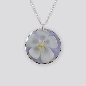 Rocky Mountain columbine flo Necklace Circle Charm