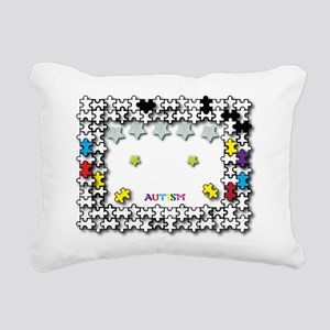 Reach for the Stars Whit Rectangular Canvas Pillow