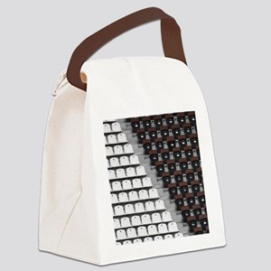 Rows of seats in different colors Canvas Lunch Bag