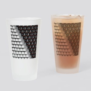 Rows of seats in different colors i Drinking Glass