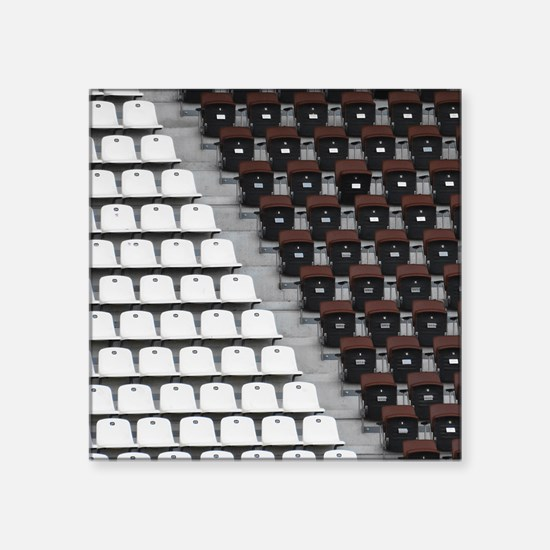 """Rows of seats in different  Square Sticker 3"""" x 3"""""""