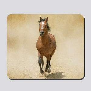 Shagya-Arabian horse cantering through d Mousepad