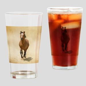 Shagya-Arabian horse cantering thro Drinking Glass