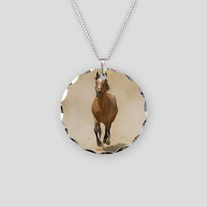 Shagya-Arabian horse canteri Necklace Circle Charm