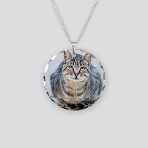 Street cat. Necklace Circle Charm