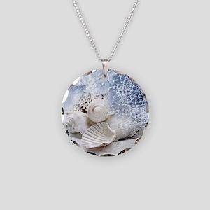 Seashells washed ashore Necklace Circle Charm